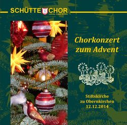 Chorkonzert zum Advent 2014