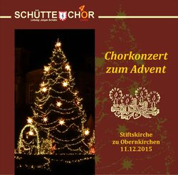 Chorkonzert zum Advent 2015