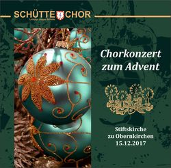Chorkonzert zum Advent 2017