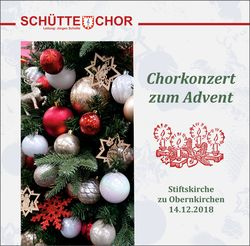 Chorkonzert zum Advent 2018
