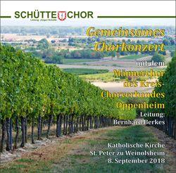 Gemeinsames Chorkonzert in Weinolsheim 2018