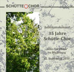 Jubiläumskonzert 35 Jahre Schütte-Chor