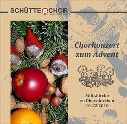 Chorkonzert zum Advent 2010