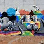 Willkommen in Málaga - Graffiti am Guadalmedina