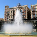 Fontaine am Plaza de la Marina
