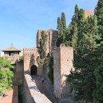 Blick auf den Eingang vom Alcazaba