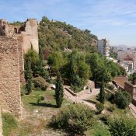 Blick über die Mauern des Alcazaba