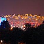 Olympiastadion aus der Ferne