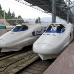 Der Hochgeschwindigkeitszug in Dali