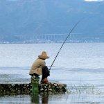 Angler am Erhai-See
