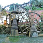 Die berühmten Wasserräder von Lijiang