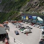 Parkplatz oberhalb der Schlucht