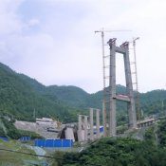 Bau der Brücken über die Schlucht