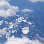 Weiße Schneeberge