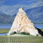 Markanter Felsen in der Landschaft