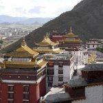 Blick auf das Kloster Trashilhunpo