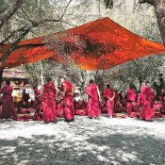 Die Mönche lernen das Diskutieren