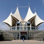 Futuristisches Gebäude