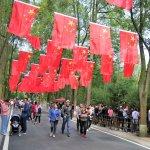 Volksfeststimmung im Park