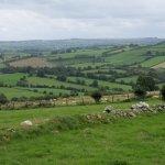 Irische Landschaft am Beltany Steinkreis