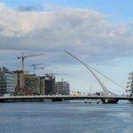 Samuel Beckett Bridge über den Liffey, Dublin
