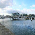 Die schwenkbare Sean O'Casey Bridge, Dublin