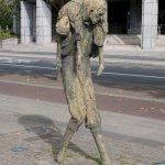 Das Famine Memorial in Dublin gedenkt der großen Hungersnöte 1845 bis 1852 in Irland