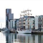 Das Schulschiff Cuauhtémoc am Pier in Dublin