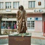 Denkmal für Mutter Theresa, Pristina, Kosovo 2003