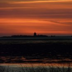 Sonnenuntergang, Cuxhaven Duhnen 2010