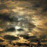 Abendhimmel über der A2, 2012